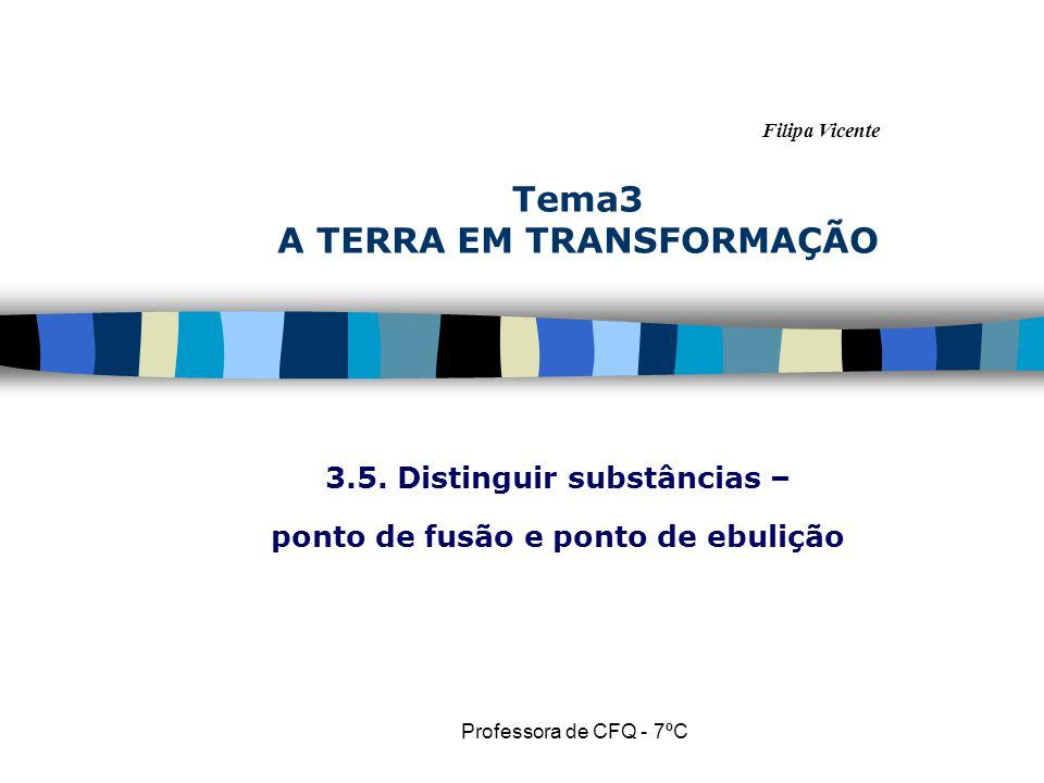 Filipa Vicente Professora de CFQ - 7ºC Tema3 A TERRA EM TRANSFORMAÇÃO 3.5.