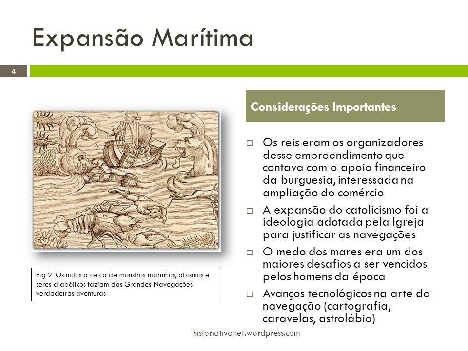 Expansão Marítima 4 historiativanet.wordpress.com Considerações Importantes  Os reis eram os organizadores desse empreendimento que contava com o apo