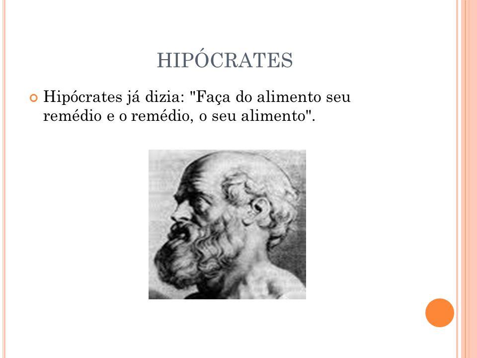 HIPÓCRATES Hipócrates já dizia: