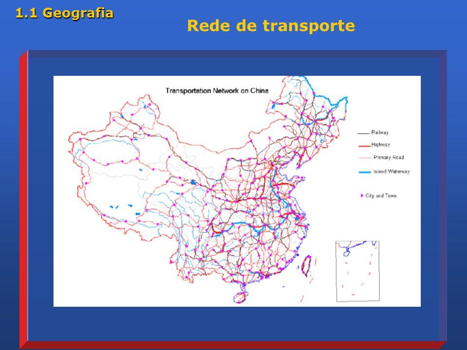 Rede de transporte 1.1 Geografia