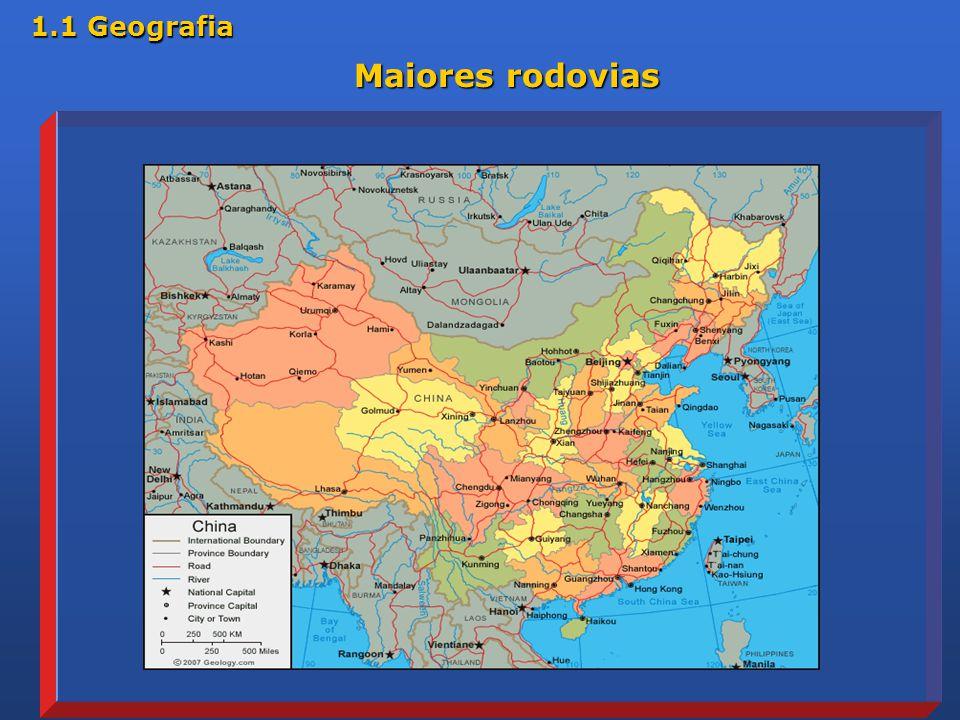 Maiores rodovias 1.1 Geografia