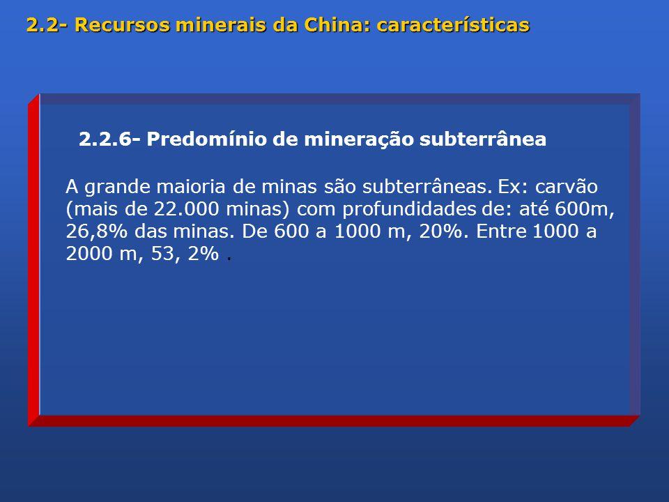 A grande maioria de minas são subterrâneas.