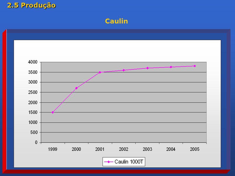Caulin 2.5 Produção