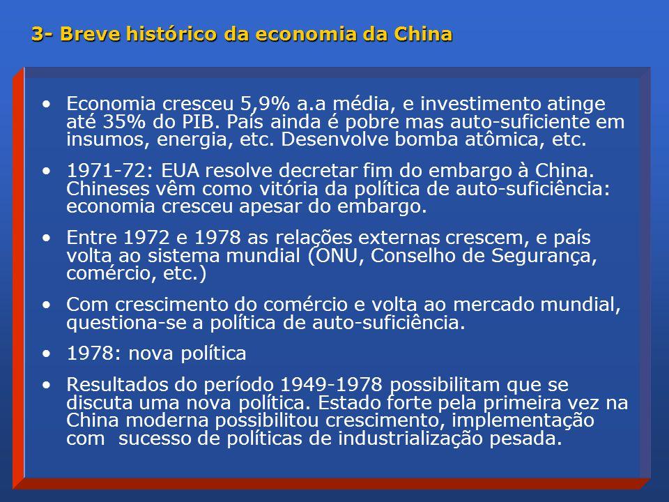 Economia cresceu 5,9% a.a média, e investimento atinge até 35% do PIB.