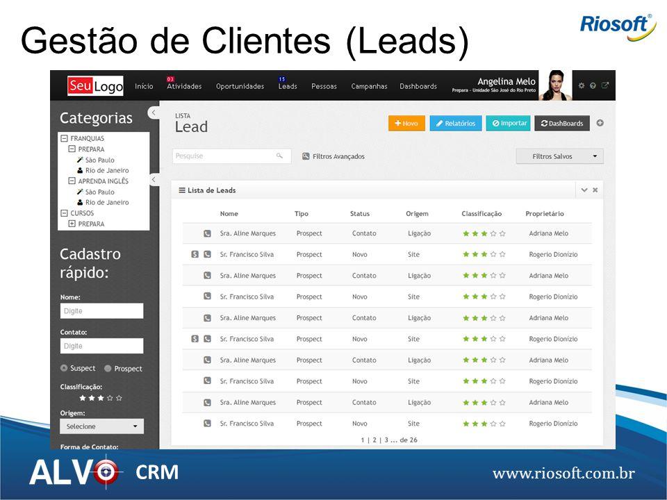 www.riosoft.com.br CRM Gestão de Clientes (Leads)