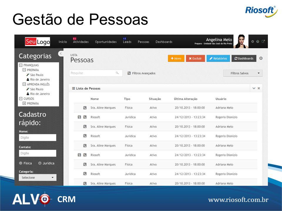 www.riosoft.com.br CRM Gestão de Pessoas