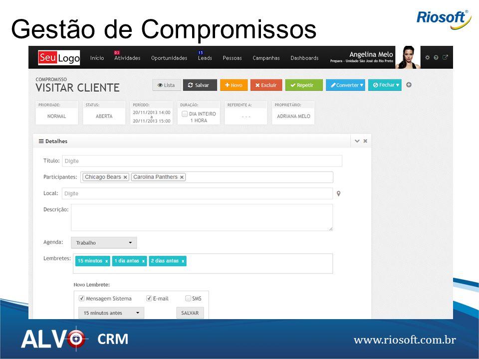 www.riosoft.com.br CRM Gestão de Compromissos