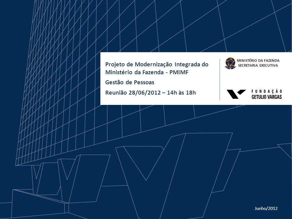 Projeto de Modernização Integrada do Ministério da Fazenda - PMIMF Gestão de Pessoas Reunião 28/06/2012 – 14h às 18h MINISTÉRIO DA FAZENDA SECRETARIA