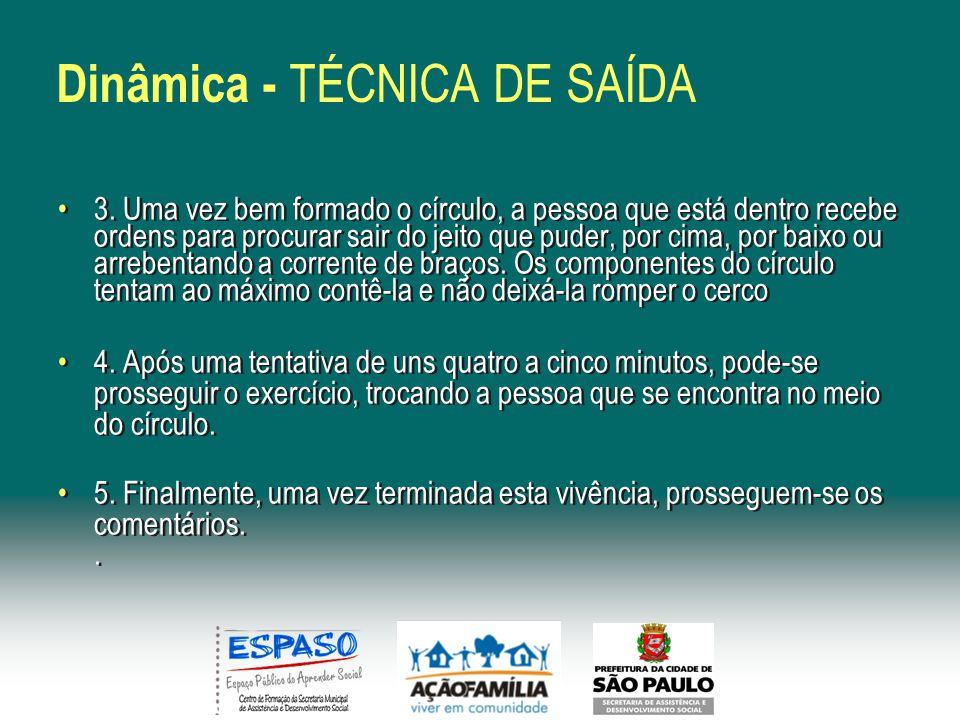 Dinâmica - TÉCNICA DE SAÍDA 3.