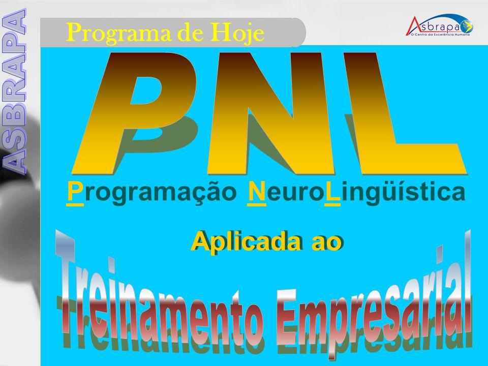 Programa de Hoje Programação NeuroLingüística Aplicada ao Aplicada ao