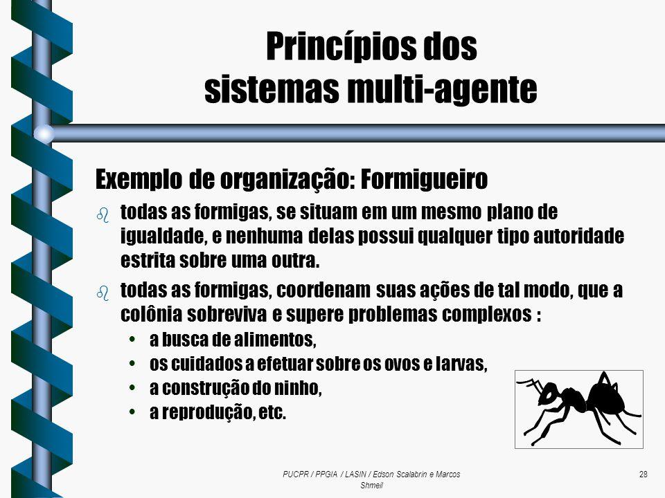 PUCPR / PPGIA / LASIN / Edson Scalabrin e Marcos Shmeil 28 Exemplo de organização: Formigueiro b todas as formigas, se situam em um mesmo plano de igu