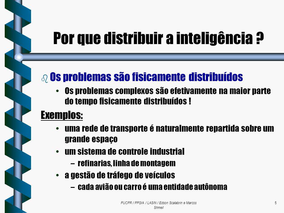 PUCPR / PPGIA / LASIN / Edson Scalabrin e Marcos Shmeil 5 b Os problemas são fisicamente distribuídos Os problemas complexos são efetivamente na maior