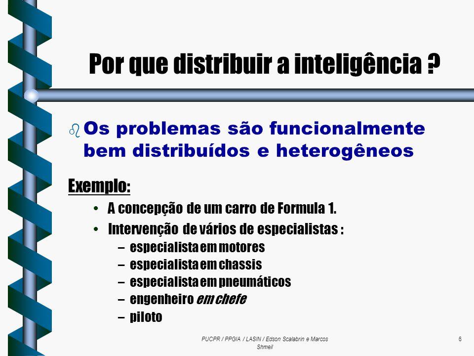 PUCPR / PPGIA / LASIN / Edson Scalabrin e Marcos Shmeil 6  Os problemas são funcionalmente bem distribuídos e heterogêneos Exemplo: A concepção de um