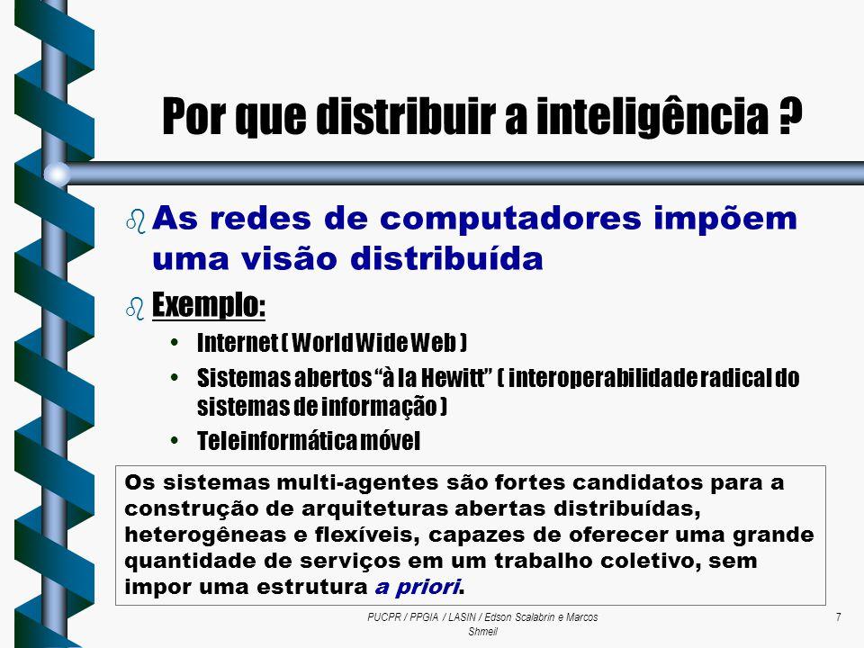 PUCPR / PPGIA / LASIN / Edson Scalabrin e Marcos Shmeil 7  As redes de computadores impõem uma visão distribuída b Exemplo: Internet ( World Wide Web