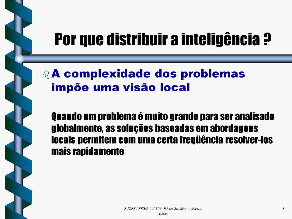 PUCPR / PPGIA / LASIN / Edson Scalabrin e Marcos Shmeil 8  A complexidade dos problemas impõe uma visão local Quando um problema é muito grande para