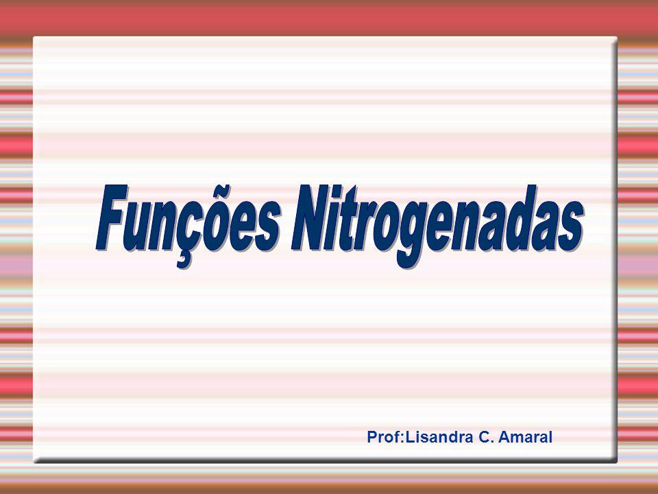 Dentro deste grupos podemos citar: AMINAS AMIDAS NITRILAS Os compostos nitrogenados, apresentam pelo menos um átomo de nitrogênio em seus grupos funcionais.