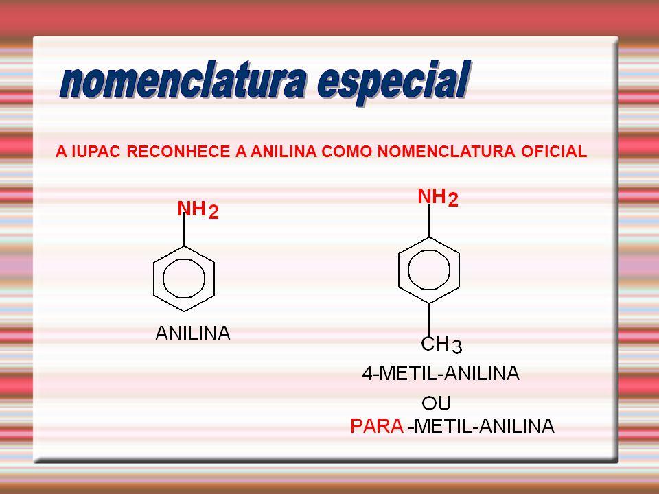 A IUPAC RECONHECE A ANILINA COMO NOMENCLATURA OFICIAL
