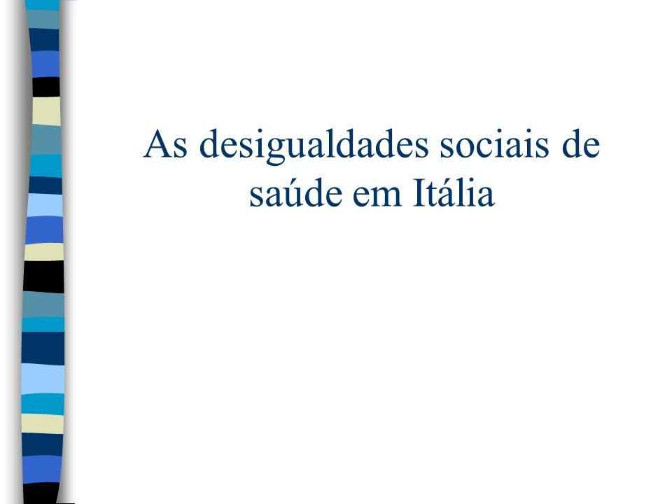 As desigualdades sociais de saúde em Itália