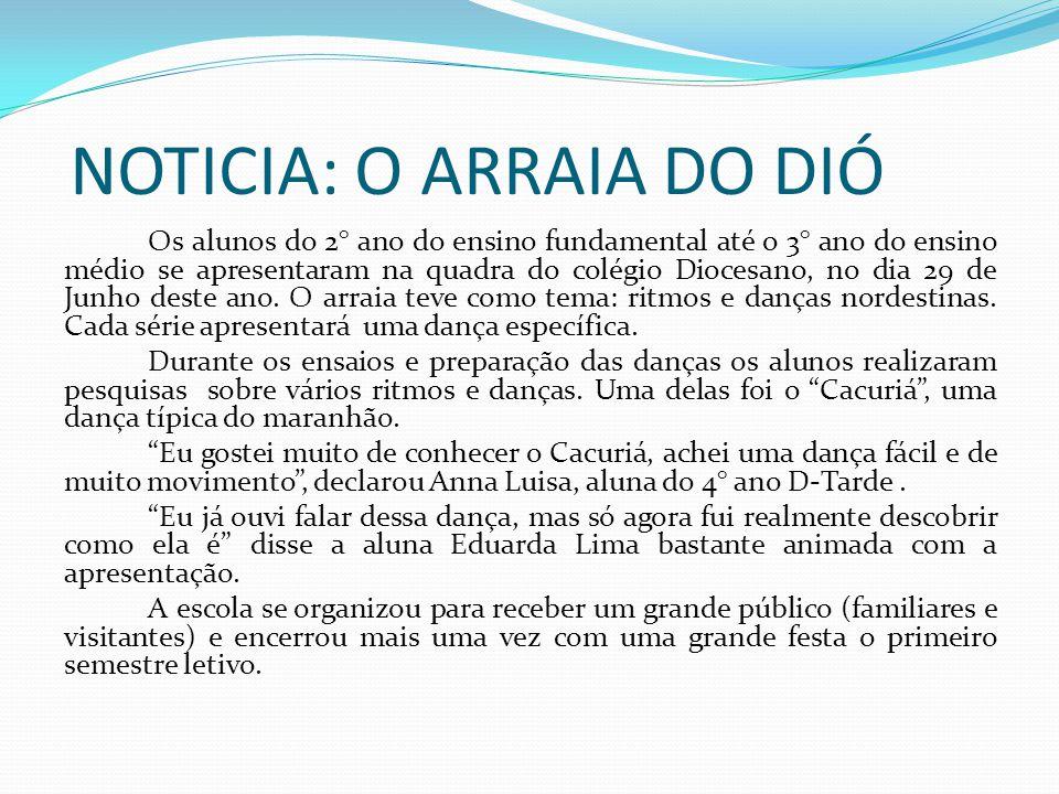 DIOFEIRAC O Diocesano realiza a feira cultural –DIOFEIRAC.