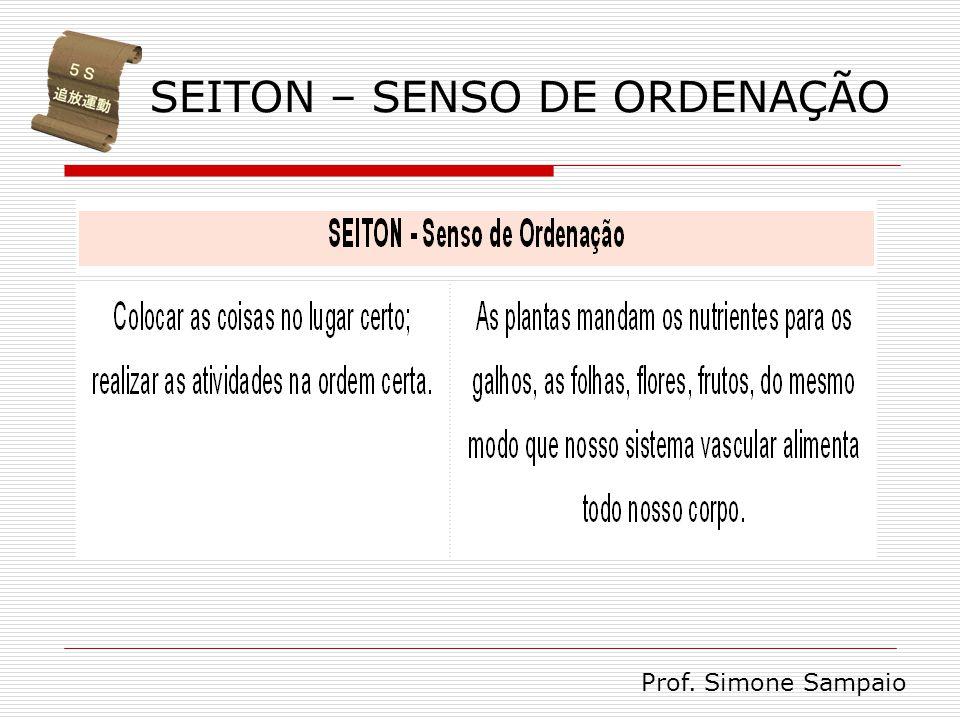 SEITON – SENSO DE ORDENAÇÃO Prof. Simone Sampaio