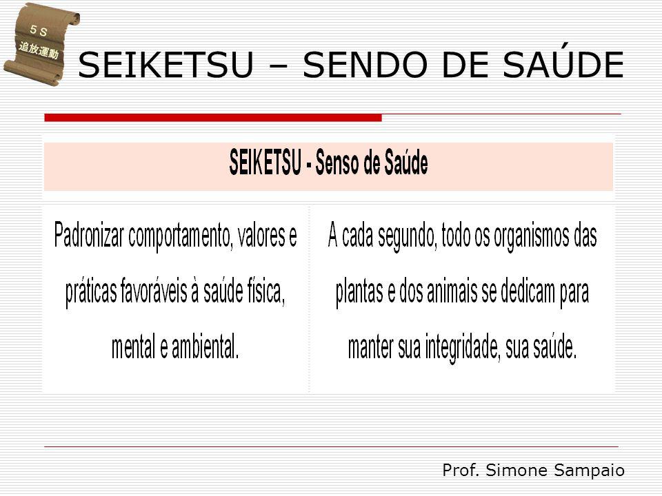 SEIKETSU – SENDO DE SAÚDE Prof. Simone Sampaio