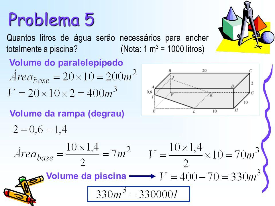 Problema 7 Calcula a área da folha metálica a usar na caixa.