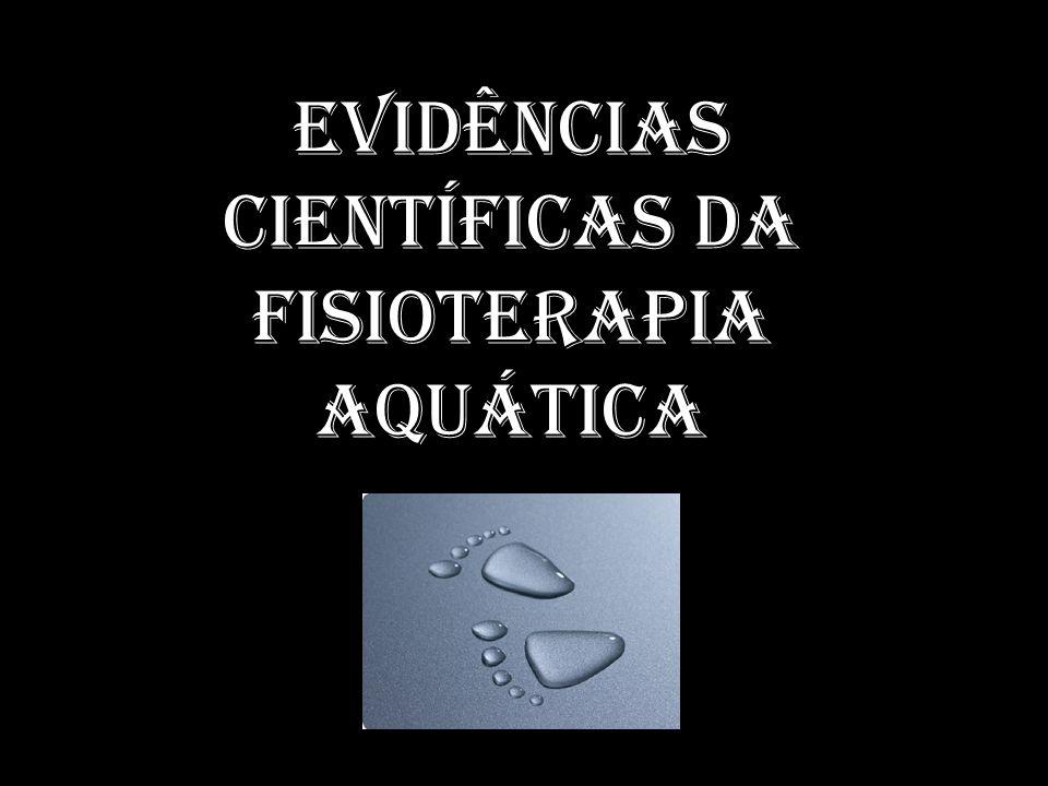 Evidências científicas da fisioterapia aquática