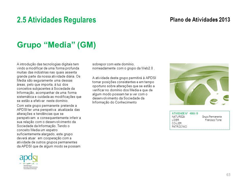 """Grupo """"Media"""" (GM) A introdução das tecnologias digitais tem vindo a modificar de uma forma profunda muitas das indústrias nas quais assenta grande pa"""