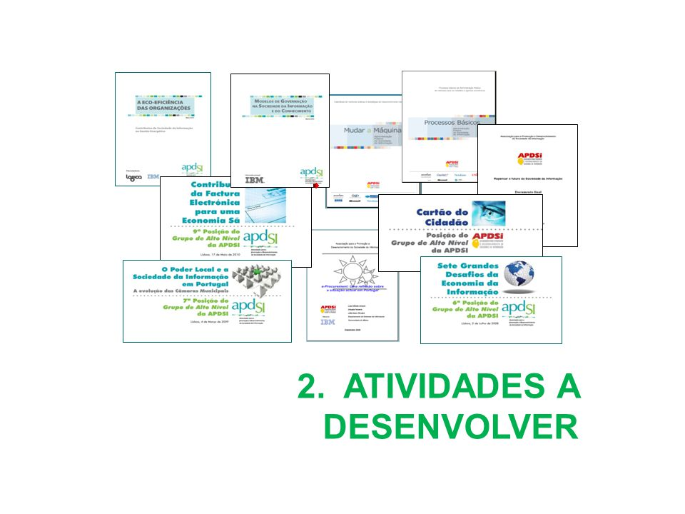 Glossário da Sociedade da Informação: Versão online No ano de 2005 a APDSI lançou um projeto destinado à recolha, sistematização e divulgação da terminologia portuguesa considerada mais adequada para representar os conceitos relevantes da Sociedade da Informação em que vivemos.