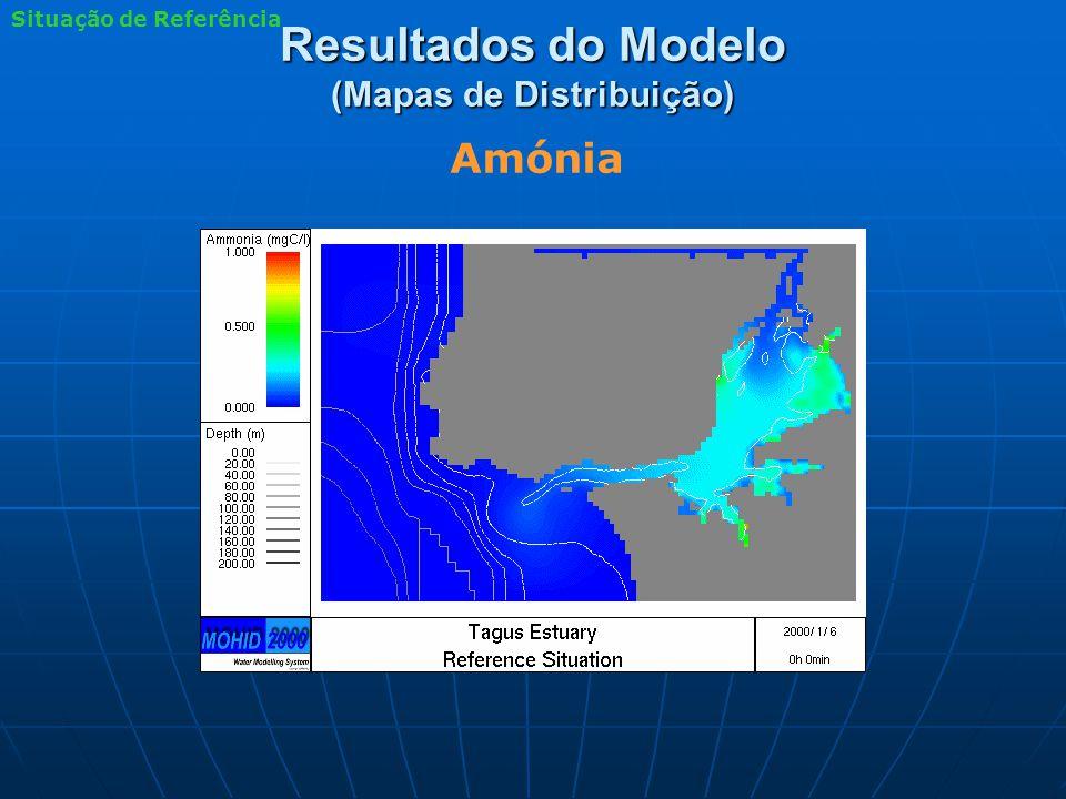 Resultados do Modelo (Mapas de Distribuição) Amónia Situação de Referência