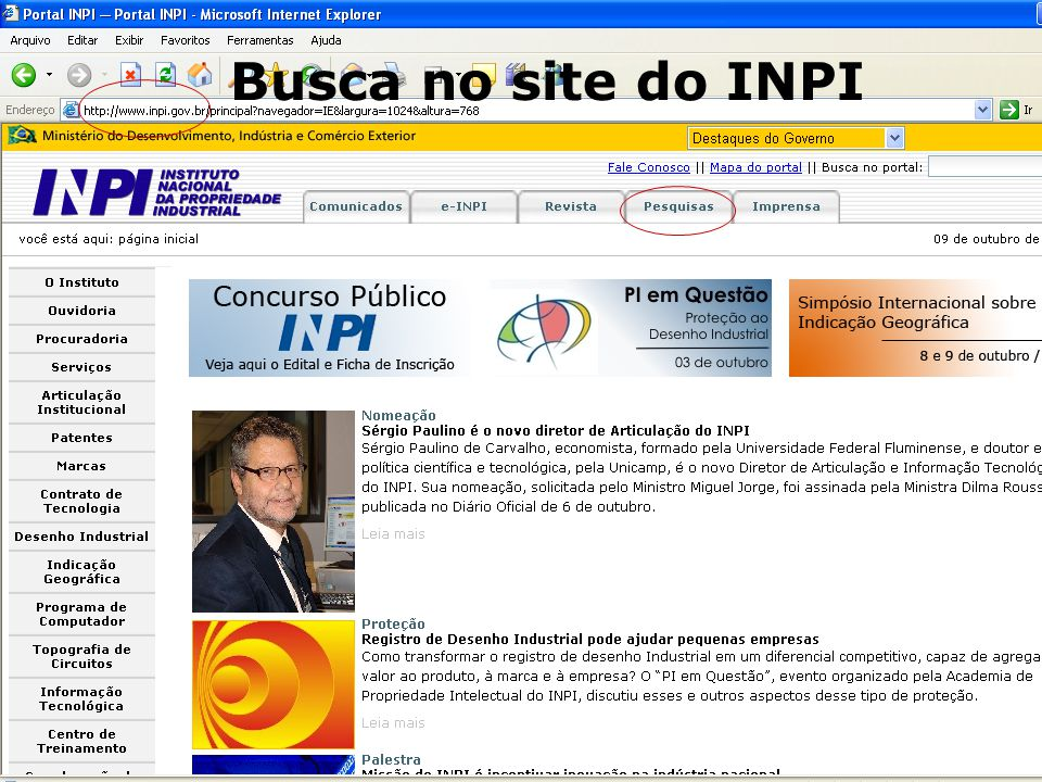 5 7 Busca no site do INPI
