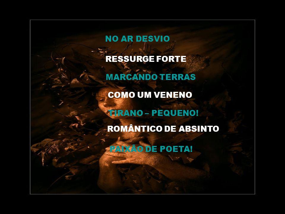 NO AR DESVIO RESSURGE FORTE MARCANDO TERRAS COMO UM VENENO TIRANO – PEQUENO.