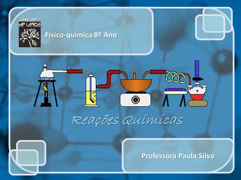 Físico-química 8º Ano Professora Paula Silva Reações Químicas