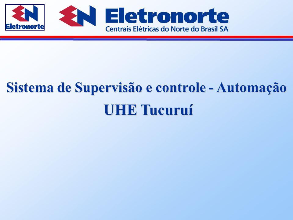 Sistema de Supervisão e Controle - Automação  23 Geradores Principais e seus componentes (8000 MW)  02 Geradores Auxiliares (40 MW)  23 Comportas do Vertedouro (110.000 m ³/s )  11 Linhas que interligam à Subestação de Tucuruí  Serviços Auxiliares da usina  Atribuições do Sistema de Supervisão e Controle  Supervisionar e controlar