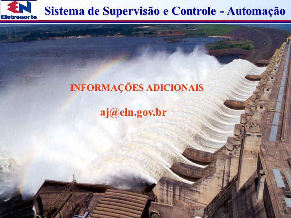 Sistema de Supervisão e Controle - Automação INFORMAÇÕES ADICIONAIS aj@eln.gov.br