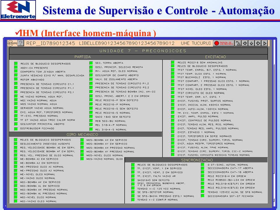 Sistema de Supervisão e Controle - Automação Relatório de eventos disponíveis no escritório Posto operacional de emergência Software em linguagem de alto nível (C)  Recursos do sistema Comunicação entre os sistemas de supervisão e proteção Ferramentas de diagnóstico remoto Plataforma para testes de sistema