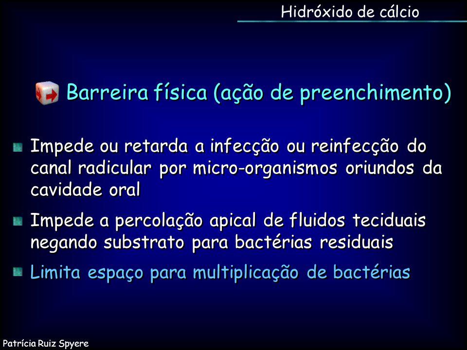 Impede ou retarda a infecção ou reinfecção do canal radicular por micro-organismos oriundos da cavidade oral Impede a percolação apical de fluidos tec