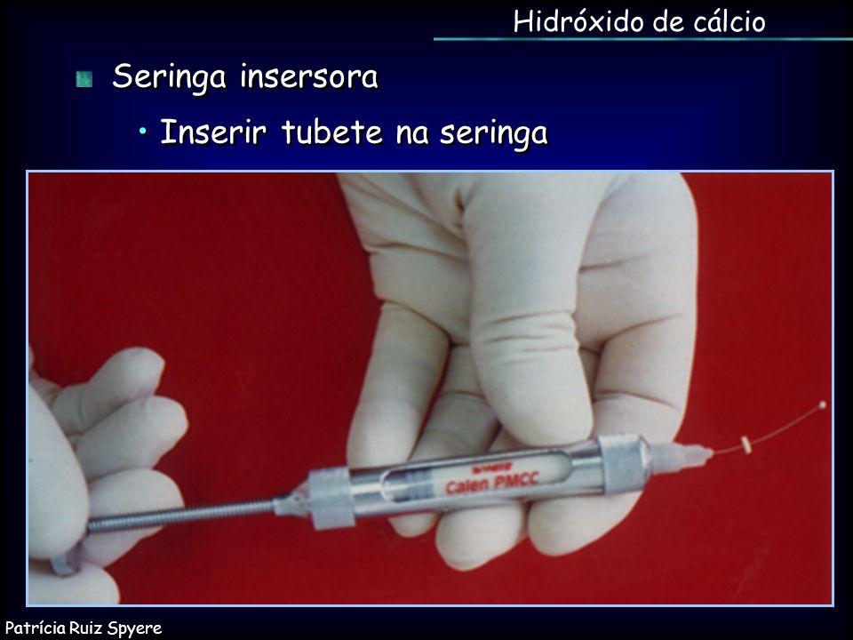 Hidróxido de cálcio Seringa insersora Inserir tubete na seringa Seringa insersora Inserir tubete na seringa Patrícia Ruiz Spyere