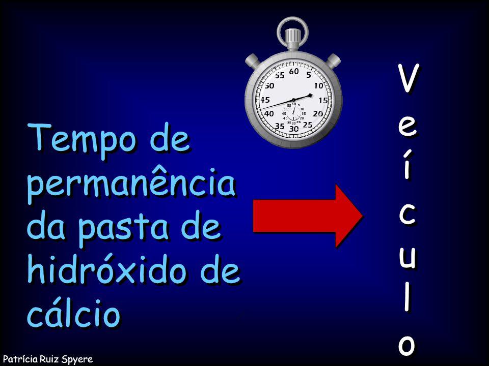 Tempo de permanência da pasta de hidróxido de cálcio VeículoVeículo VeículoVeículo Patrícia Ruiz Spyere