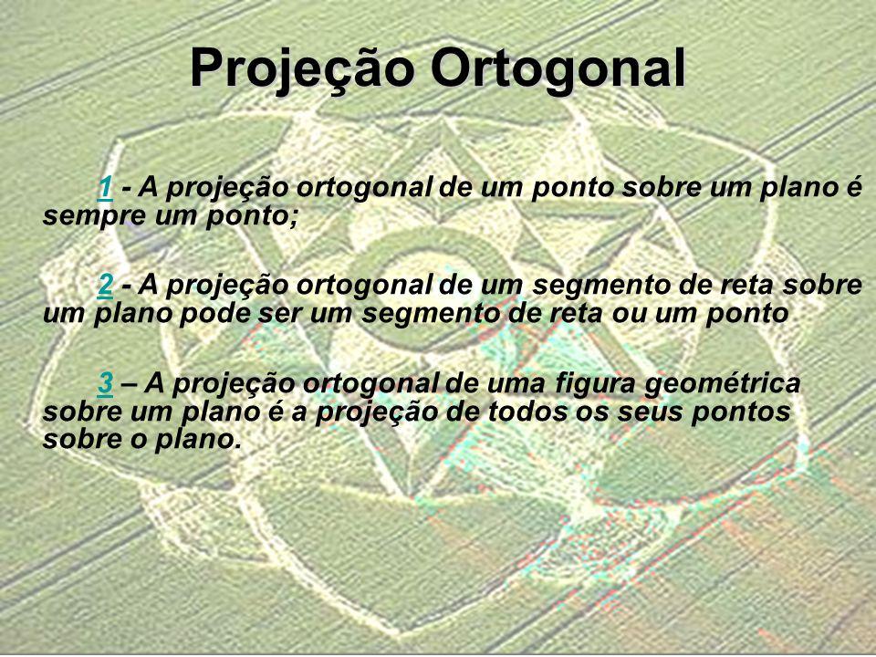 11 - A projeção ortogonal de um ponto sobre um plano é sempre um ponto; 22 - A projeção ortogonal de um segmento de reta sobre um plano pode ser um se