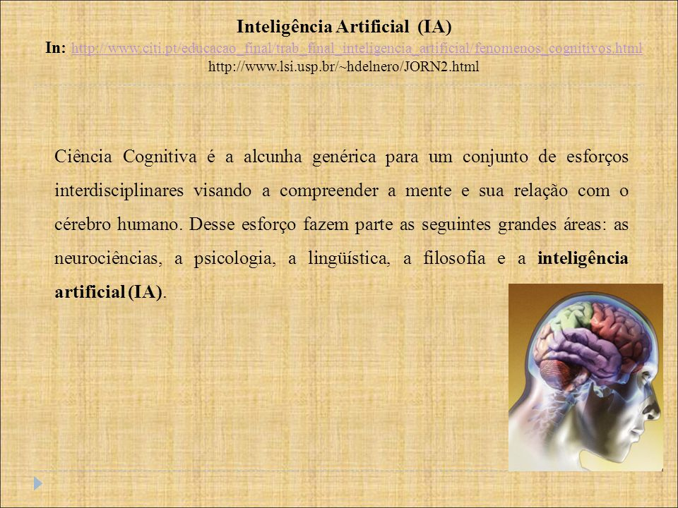 A teoria de Winograd: Cálculo predicado (predicate calculus) In: Thinking Reading in Cognitive Science Edited by P.N.Johson –Laird and P.C.