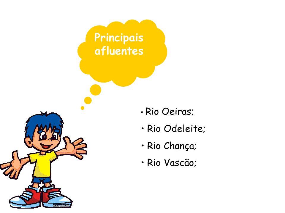 Principais afluentes Rio Oeiras; Rio Odeleite; Rio Chança; Rio Vascão;