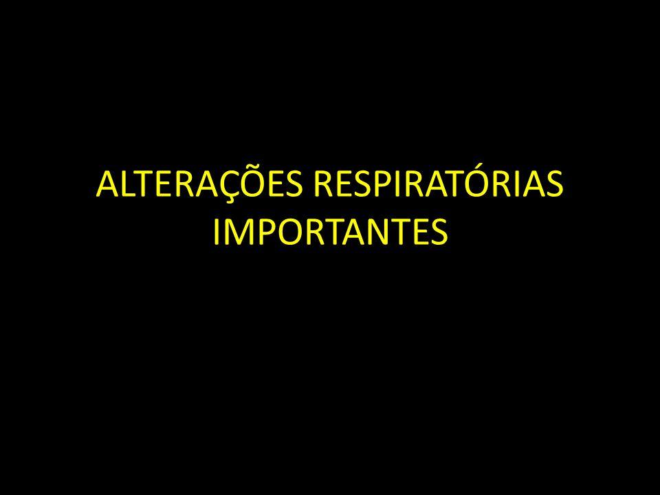 ALTERAÇÕES RESPIRATÓRIAS IMPORTANTES