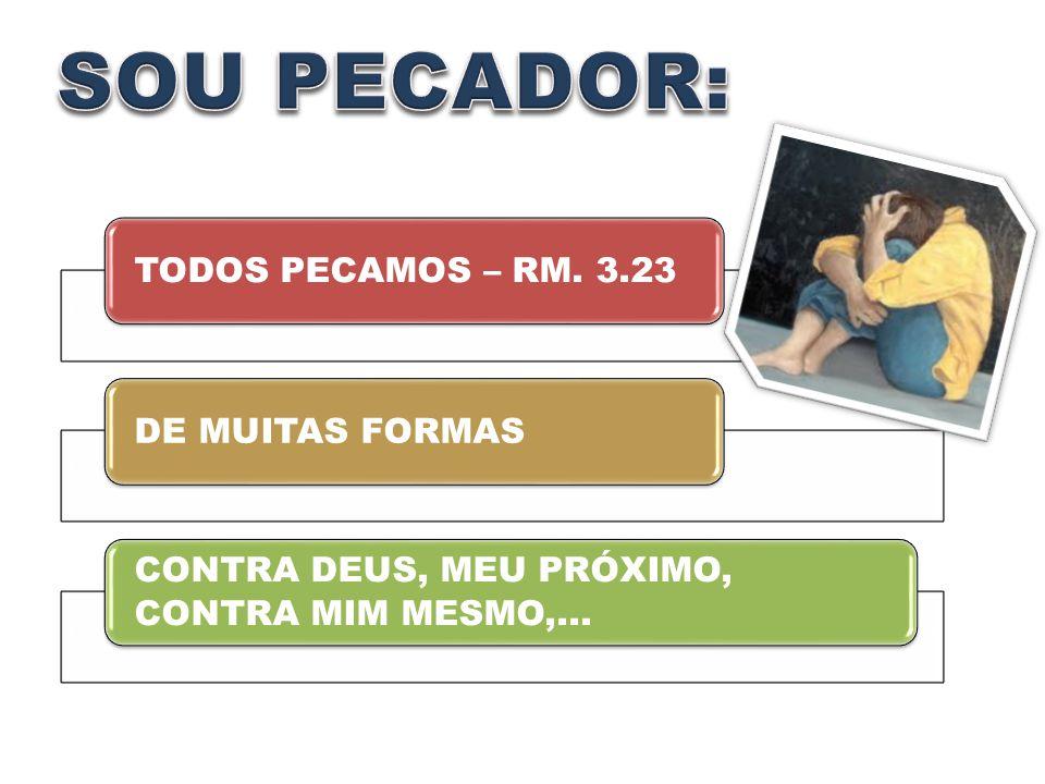 TODOS PECAMOS – RM. 3.23DE MUITAS FORMAS CONTRA DEUS, MEU PRÓXIMO, CONTRA MIM MESMO,...