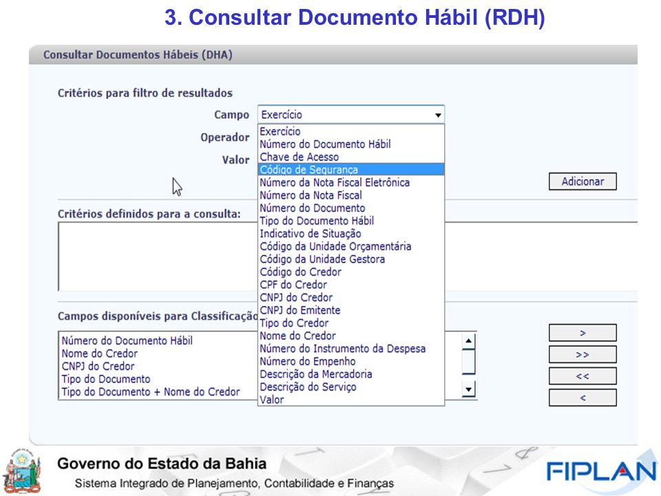 3. Consultar Documento Hábil (RDH)