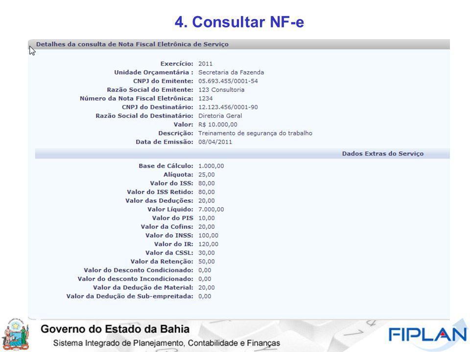 4. Consultar NF-e