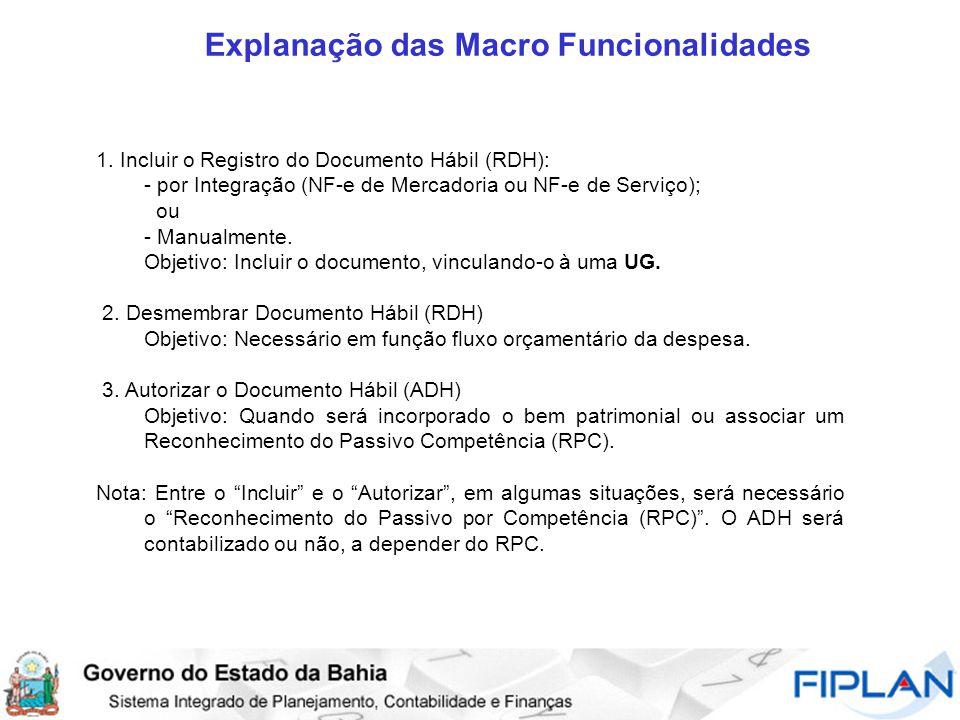 Explanação das Macro Funcionalidades 1.