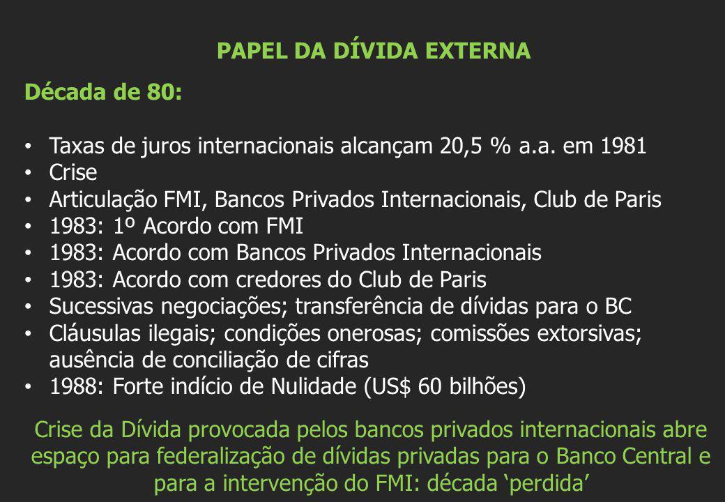 AUDITORIA DA DÍVIDA Instrumento que mostra a usurpação do endividamento público pelo sistema bancário internacional