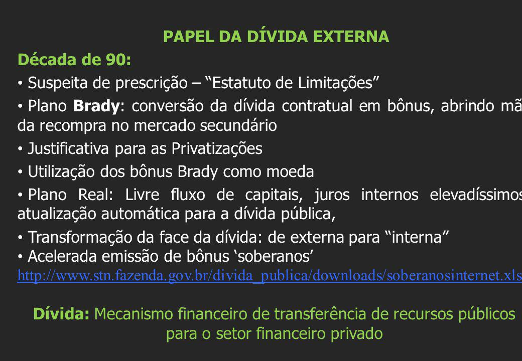 AUDITORIA DA DÍVIDA Revela a instrumentação jurídica do estado em benefício da banca privada Privilégios para o pagamento da dívida pública antes de qualquer outro gasto do Estado.