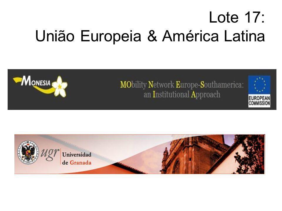 Lote 17: União Europeia & América Latina